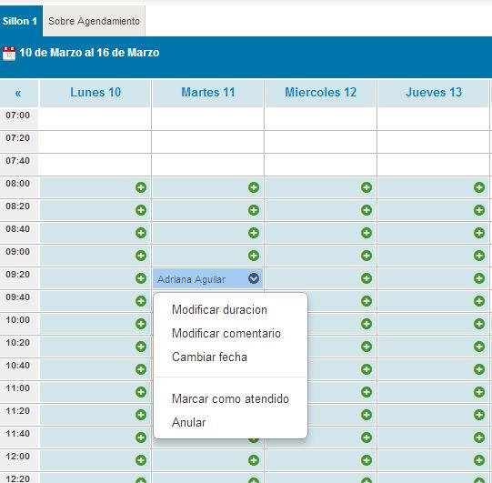 Agenda diaria #Dentalink #softwaredental