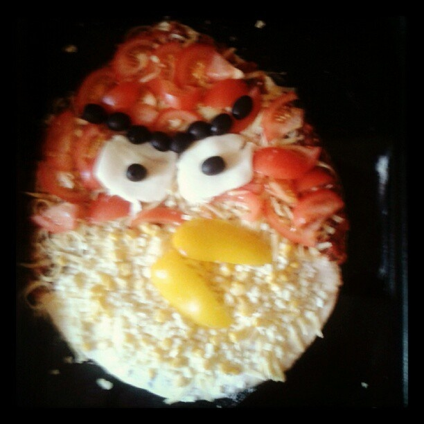 #angrybirds #angry birds #pizza Angry Pizza
