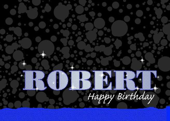 Birthday Robert Blue Sparkle Esque Card Blue Sparkles Cards