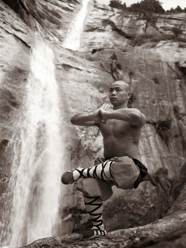 18 Pictures of Shaolin Monks Training