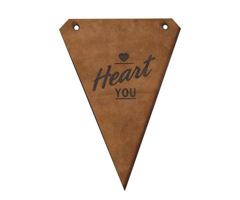 Pony Rider - Heart U - Leather Wall Flag