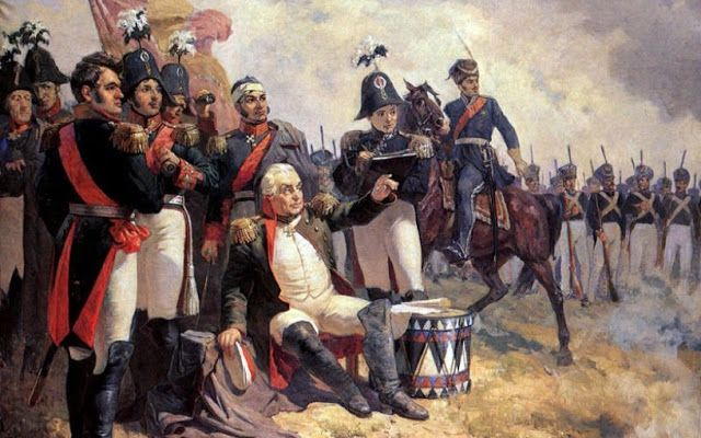 """""""I think the French are over that-a-way...""""  Field Marshal Mikhail Kutuzov at his command post during the battle of Borodino in 1812"""