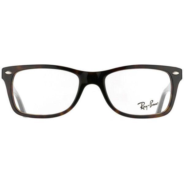 Ray-Ban RX 5228 2012 Dark Havana Plastic Eyeglass Frames ($100) ? liked on Polyvore featuring accessories, eyewear, eyeglasses, glasses, jewelry, random, ray ban eyeglasses, plastic glasses, plastic eyeglasses and ray ban eyewear