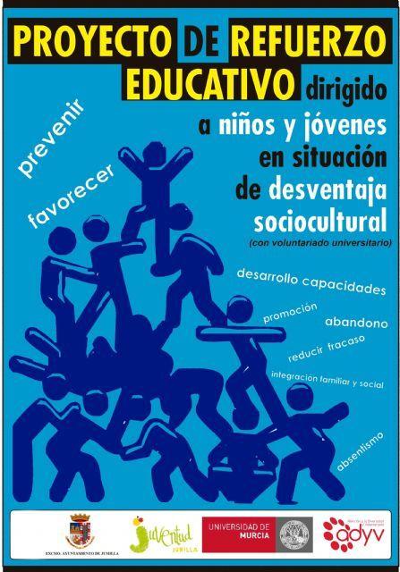 El Programa de Refuerzo Educativo pone en contacto a universitarios con escolares para mejorar su rendimiento. http://www.murcia.com/jumilla/noticias/2013/11/15-el-programa-de-refuerzo-educativo-pone-en-contacto-a-universitarios-con-escolares-para-mejorar-su-rendimiento.asp