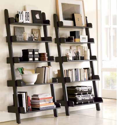 Most bookcases and shelving units are big and bulky. Not these! They are open, airy and take up very little floor space! Perfect for just about any room in your house