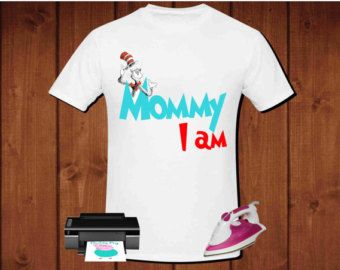 Mom I am Dr. Seuss inspired iron on transfer by alafoliedesigns