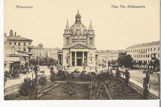 Old postcard (Warsaw)