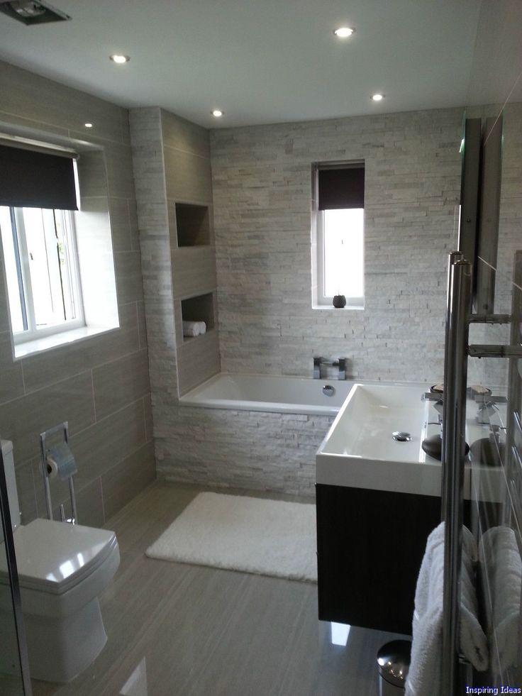 Die besten 25+ Badezimmer 9m2 Ideen auf Pinterest Wäschereibad - badezimmer mit grauen fliesen