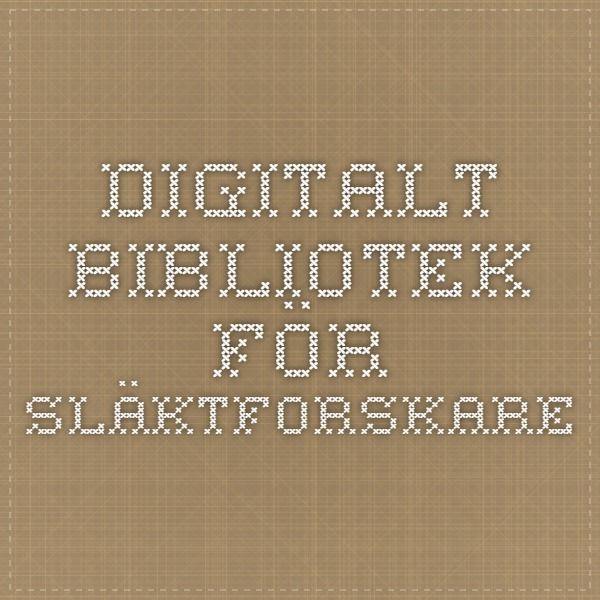 Digitalt bibliotek för släktforskare