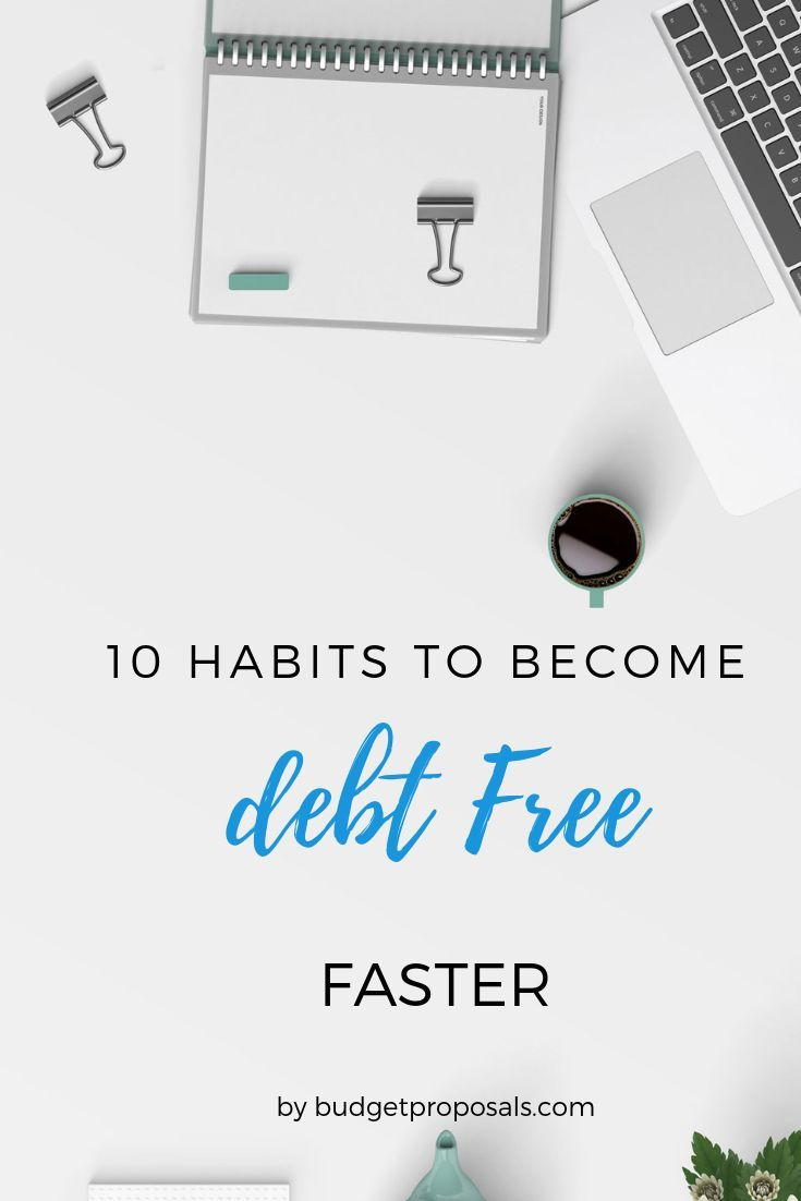 10 Habits to Become Debt Free| Personal Finance – …