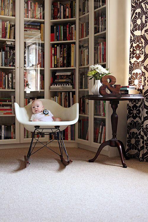 IKEA Billy bookshelves rounding a corner to look built in