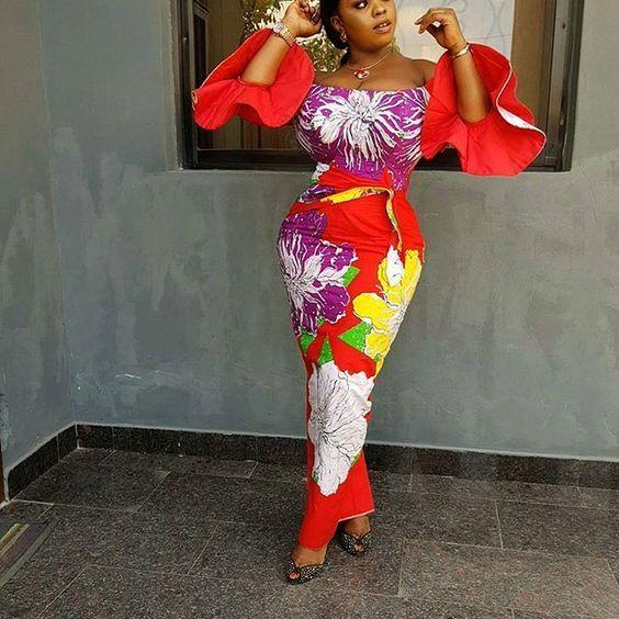 Beautiful Fitted Ankara Long Gowns; Latest Ladies Ankara Styles - DeZango Fashion Zone