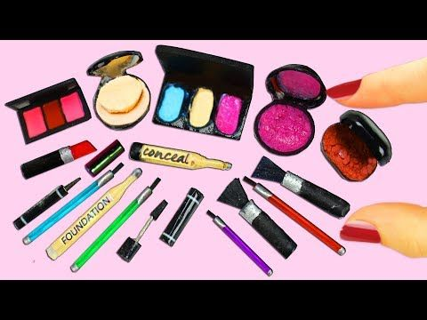 How to Make 100% REAL Miniature Makeup / Cosmetic Products - 10 Easy DIY Miniature Doll Crafts - YouTube