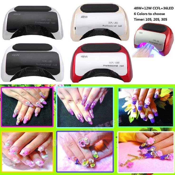 48w led UV lamp for nail Polish Gel fast dry Curing Nail tools with automatic hand sensor EU AU US UK plug 12W CCFL + 36W LED alishoppbrasil
