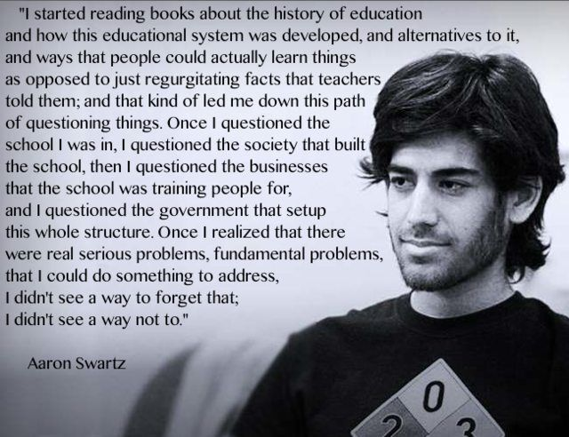"""I started reading..."" Aaron Swartz [650x500]"