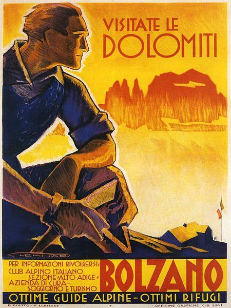 Dolomiti Alps Bolzano Italy Vintage Italian Travel Poster Reproduction Free S H   eBay