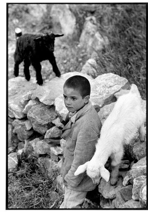 """Constantine Manos  GREECE. Crete. 1964. Boy and kids. """"A Greek Portfolio"""" p.101 © Costa Manos/Magnum Photos"""