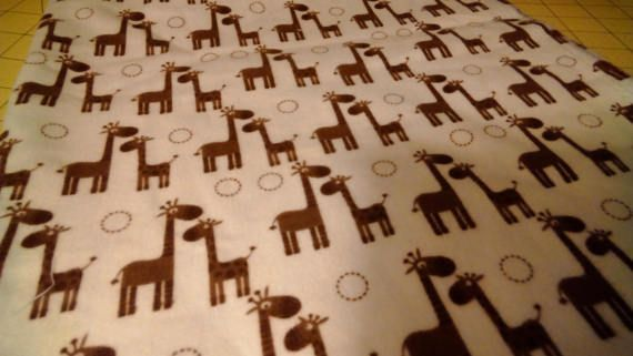 Riley Blake Flannel Giraffe Fabric 1 Yard