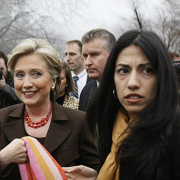 "New Huma Abedin E-mail Address Discovered ahead of Benghazi Committee Appearance 10/15/15  ...""I tried to send this to your 'clintonemail.com' address, but it bounced back as undeliverable, so here it is again,"" Harrison wrote. The new address is titled ""humamabedin,"" and appears to be a private e-mail account. The State Department redacted the account's domain name, citing a personal-privacy exemption..."