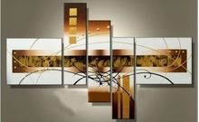 altın kaliteli soyut hattı floewr tuval üzerine yağlıboya 5 adet seti ev duvar sanatı resmi oturma odası dekorasyonu modern(China (Mainland))