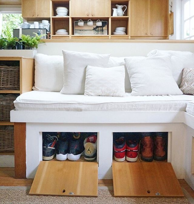 Small space sneaker storage
