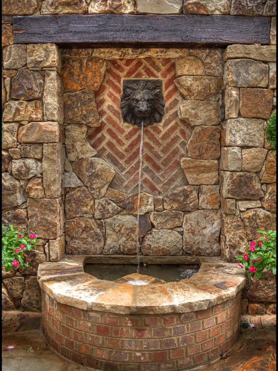 Wall fountain design