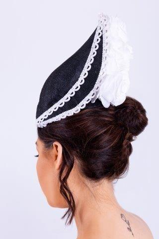 Black   White Rose Headpiece Fashion of Ireland Made in Ireland Irish  Design Irish Fashion Wearing Irish Irish Je…  c6c62f18dee