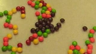 Skittle and Starburst Stop Motion, via YouTube.