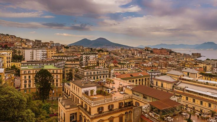 This is a view of the beautiful city of Naples in Italy