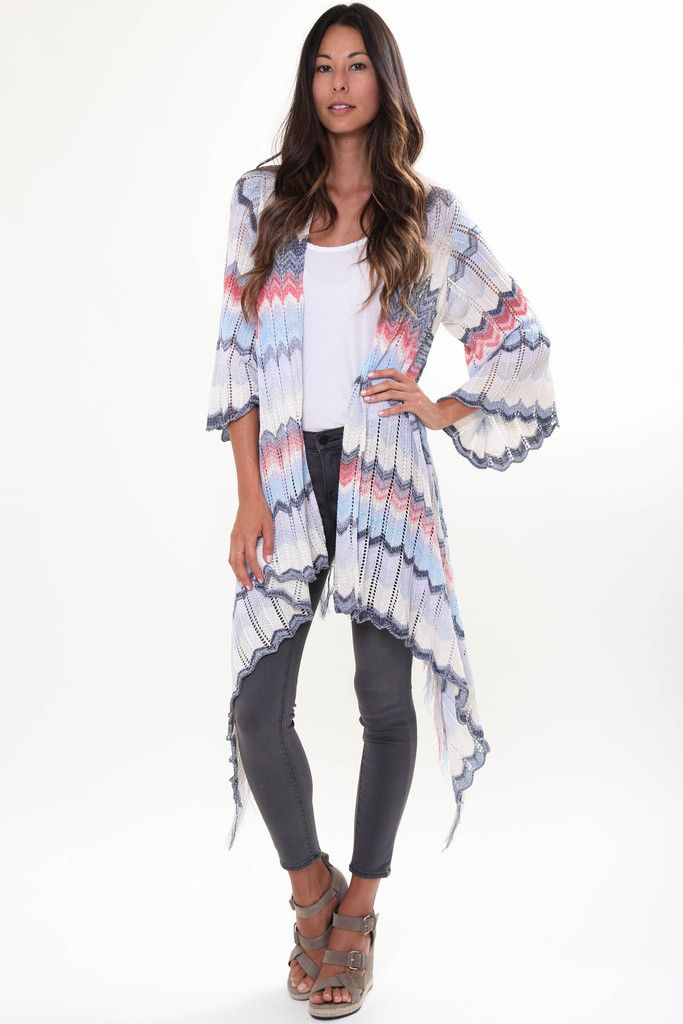 Goddis River Fringe Sweater in Sea Dive 'LAST ONE IN EACH SIZE'