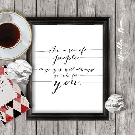 Love quote print printable love quote wall decor framed by