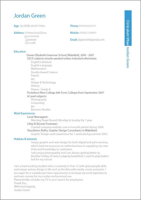 Best 25+ Cv resume sample ideas on Pinterest Cv format sample - resume examples for college students with no work experience
