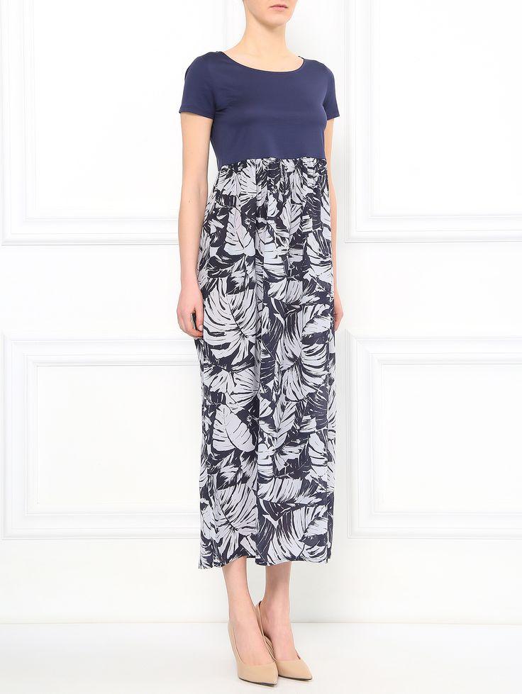 Купить Weekend синее платье-макси из хлопка с узором (92091), цена на платье в интернет-магазине Bosco.ru – 24 250 руб.