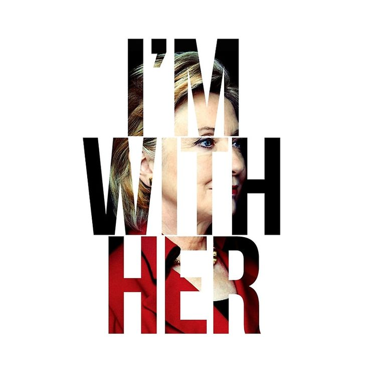 "I'm With Her Hillary Clinton "" Graphic T-Shirts by Christy Fox ..."