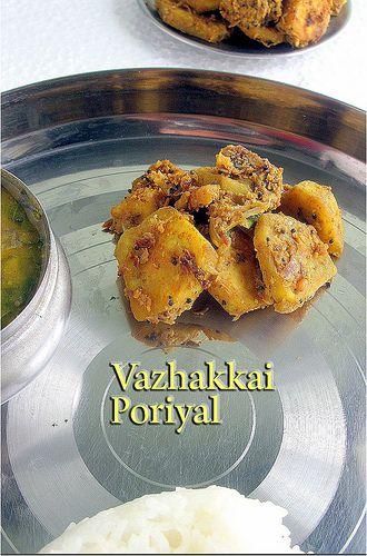 Keerai sambar, keerai sambar recipe and raw banana poriyal recipe/  raw banana curry - A classic South Indian lunch menu