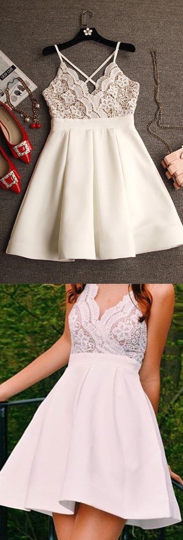 white homecoming dress,short homecoming dress,2017 homecoming dress,homecoming dress,436