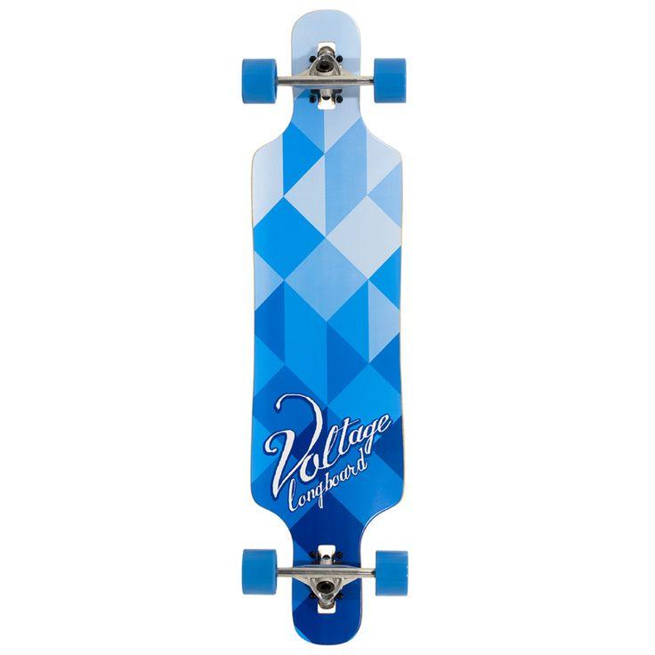 "Voltage Drop Through Complete Longboard - Blue 39"" | Complete Longboards | Cheap Complete Longboards For Sale | Skate Shop | Skatehut"