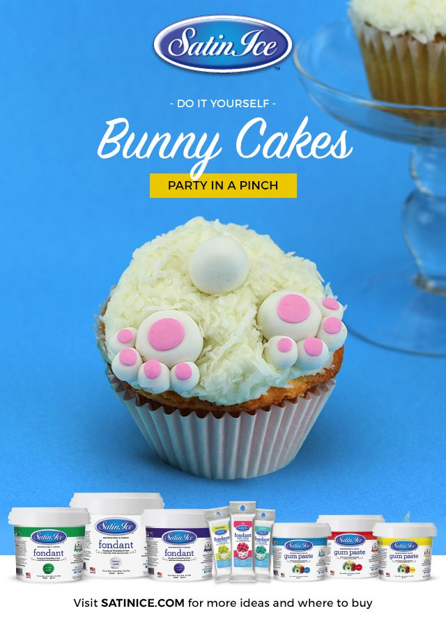 What a cute little cottontail! Satin Ice Fondant makes these tutorials easy and fun for the whole family!