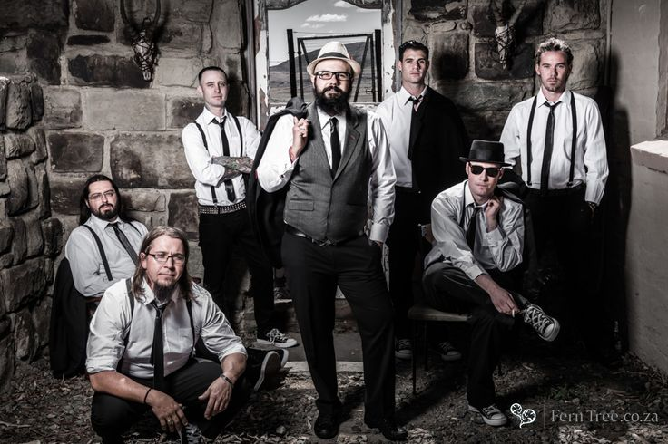 Some of the most trendy groomsmen we have ever seen. The groom was rocking out hard!