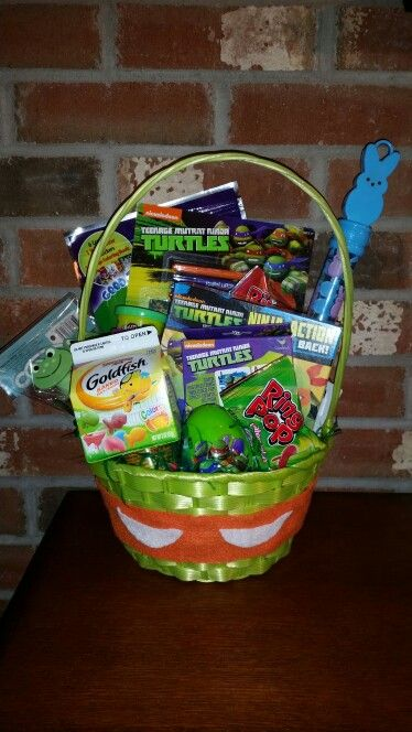 219 best easter baskets images on pinterest easter baskets ninja turtle easter basket negle Choice Image