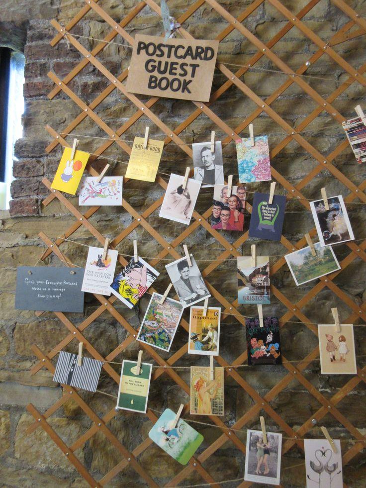 Postcard guest book. DIY wedding.