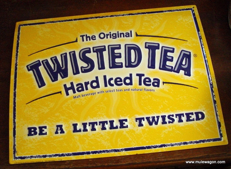 "Vintage The Original Twisted Tea  Metal Sign from MuleWagon.com   This Metal Advertising Sign looks like it has never been hung on a wall but I am going to call it used and in good condition.This Metal Sign is marked 2009 Twisted Tea Brewing Company Cincinnati, Oh. The Original Twisted Tea Hard Iced Tea Malt Beverage with Select Teas and Natural Flavors. Be a Little Twisted.Approximate Measurements 13 1/2"" x 17 1/2""."