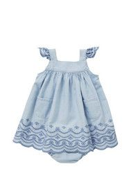 Pumpkin Patch Chambray Dress and Briefs Set
