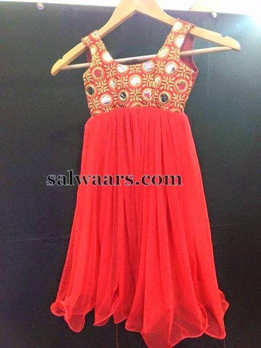 Lambada Mirror Work Frock - Indian Dresses