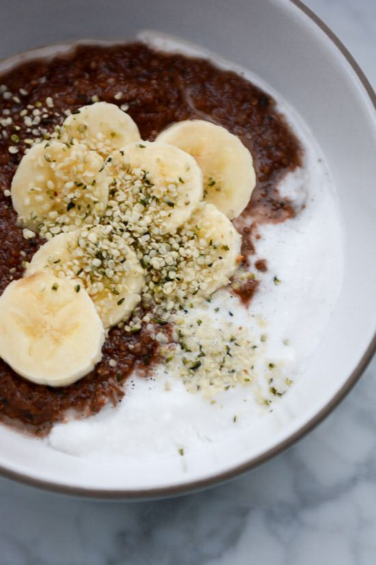 Grain-free nutella porridge