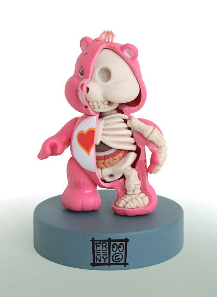 Jason Freeny's Sculptures Dissect Icons & Toys From Hello Kitty to Mickey Mouse.