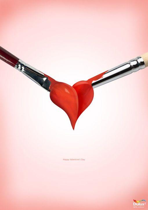 DULUX. Diseño cartel para el día de San Valentín (14 de febrero). ¡Happy Valentine's day!