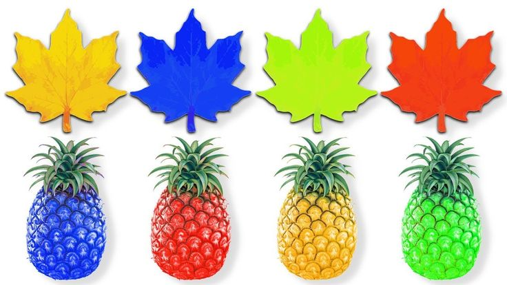Colorful Pineapple & Leaf | Learn Colors with Fruits & Leafs for Kids Ch...