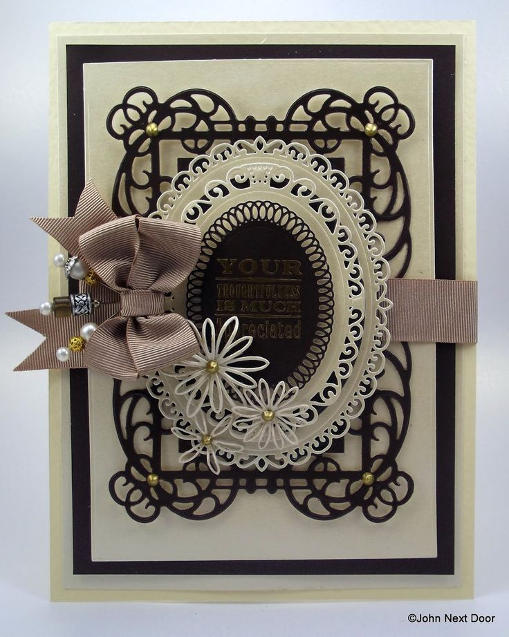 spellbinders mystical embrace die | This is the first card I have made with the cardstock and so I thought ...