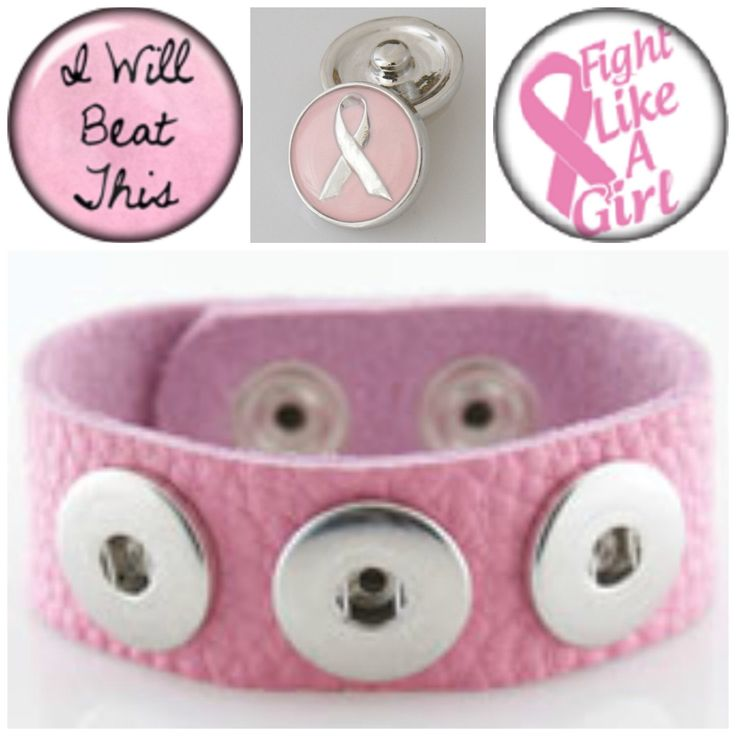 3 Breast Cancer snap charms and Noosa style leather bracelet will fit Ginger snap jewelry by BeaditBracelets on Etsy https://www.etsy.com/listing/207287447/3-breast-cancer-snap-charms-and-noosa